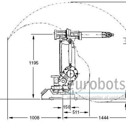 abb irb1400m2000 arc welding robot with irb250
